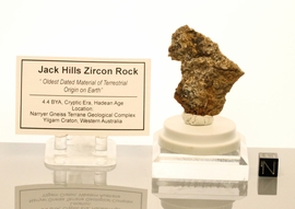 Jack Hills Zircon Mineral in Rock