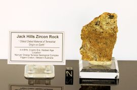 Jack Hills Zircon Mineral in Rock Large Specimen - New!