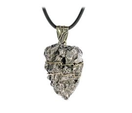 Large Mens Campo del Cielo Meteorite Jewelry Pendant Necklace Stainless Steel