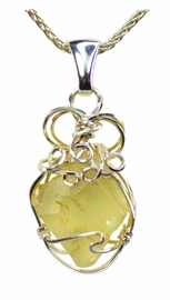 Libyan Desert Glass Jewelry Pendant Necklace
