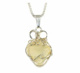 Authentic Libyan Desert Glass Jewelry Necklace Pendant - Sold!