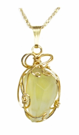 Authentic Libyan Desert Glass Jewelry 14K Gold - New!