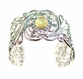 Libyan Desert Glass Jewelry Sterling Silver Bracelet - Sold!