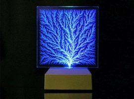 Lichtenberg Figure Tree-like Dendritic Fractal Rectangle with Lighted Base