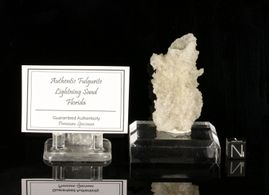 "Large Quality Fulgurite Lightning Sand ""Happy Hula Dancer"""