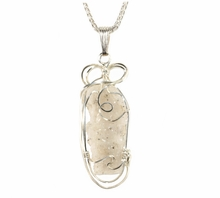 "Lightning Sand Fulgurite Glass Jewelry Open Chamber Sterling Silver ""Liquid Ice"""