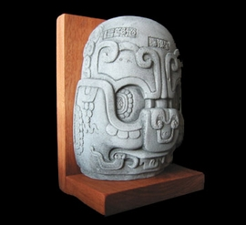 Maya Altar Bookend Sculpture Reproduction