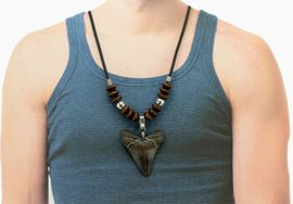 Megalodon Shark Tooth Pendant Necklace Jewelry Men XL