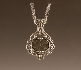 Allende Meteorite Jewelry Pendant Necklace Victorian Style