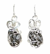 Meteorite Jewelry Earrings Campo del Cielo Sterling Silver
