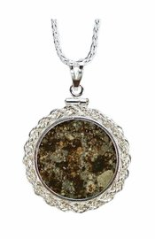 Meteorite Jewelry Necklace Pendant Coin Mount Setting