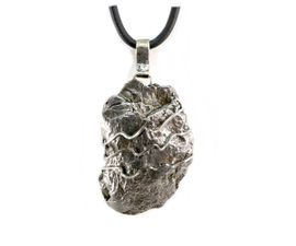 Large Meteorite Jewelry Pendant Necklace Stainless Steel