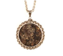 Meteorite Chondrite Space Rock Jewelry XL Sterling Silver