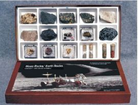 Moon Rocks/ Earth Rocks Study Set with Lunar Simulant
