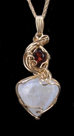 Moonstone Garnet 14K Gold Jewelry