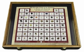 Periodic Table of the Elements Wooden Collection with Specimens, 100 Page Guide