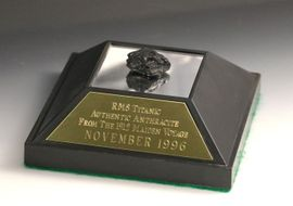 RMS Titanic Sunken Shipwreck Coal Memorabilia Display Large