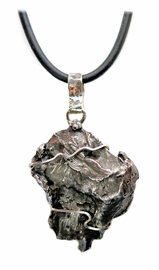 Authentic Sikhote-Alin Meteorite Jewelry Pendant Necklace for Men