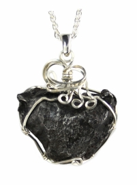 Sikhote-Alin Meteorite Jewelry Heart Shaped Sterling Silver