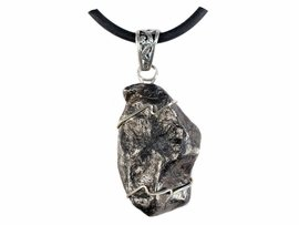 Authentic Sikhote-Alin Meteorite Jewelry Pendant Necklace Sterling Silver - New!