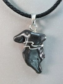 Authentic Sikhote-Alin Meteorite Jewelry Pendant Necklace Sterling Silver