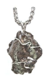 Authentic Sikhote-Alin Stainless Steel Meteorite Jewelry for Men Pendant Necklace