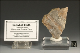 Snowball Earth Rare Rock Specimen First Snowball Earth Large