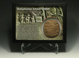 Sumerian Cuneiform Writing Tablet Round School Tablet