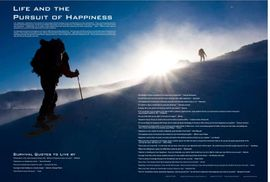 Life and the Pursuit of Happiness Motivational Survival Quotes Poster