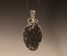 Premium Tektite Jewelry Sterling Silver Pendant Necklace Large