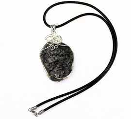 Premium Tektite Jewelry Sterling Silver Pendant Necklace Large - Sold!
