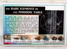 The Rare Elements of the Periodic Table in Minerals
