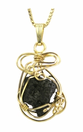 Authentic RMS Titanic Coal 14k Gold Jewelry Pendant Necklace