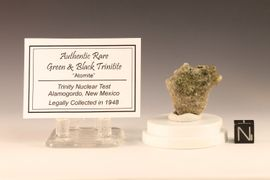 Trinitite Atomite Alamogordo Glass Green Black with Pearl