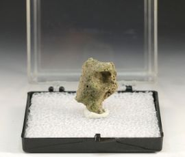 Green Trinitite Alamogordo Glass Atomite Large Hole