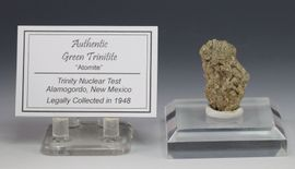 Green Trinitite Alamogordo Atomite Available