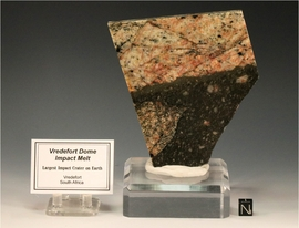Vredefort Crater Impact Polished Melt Rock Polished Pseudotachylite