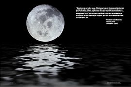We Choose to Go to the Moon Poster John F. Kennedy