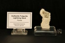 "White Premium Fulgurite Lightning Sand ""Fountain"""
