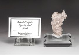 "White Premium Fulgurite Lightning Sand ""Fountain"" NEW!"