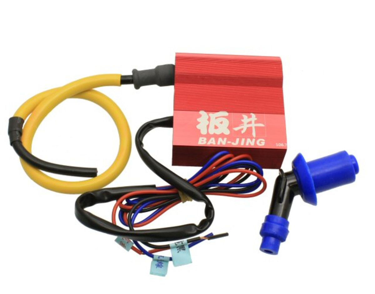 Metal Shielded COIL Pack For 125cc Chinese Scooters /& Quad 2 Pin Spade Connector