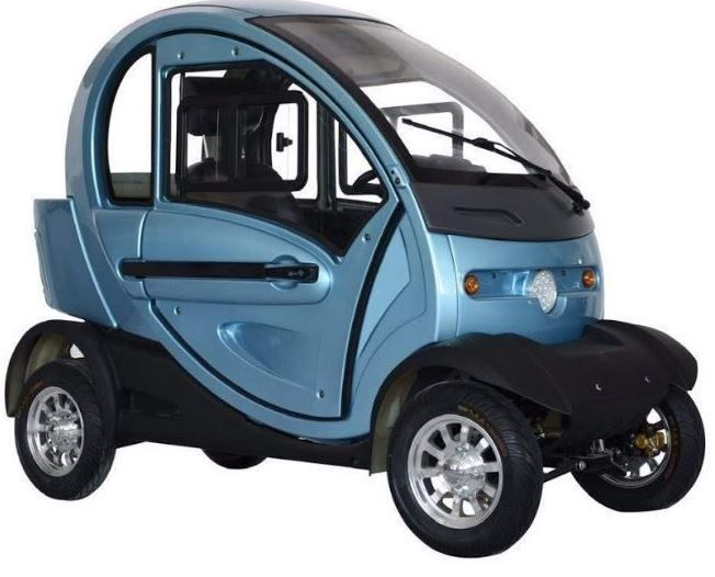 Q Pod 4 Wheel Electric Mobility Scooter Fully Enclosed