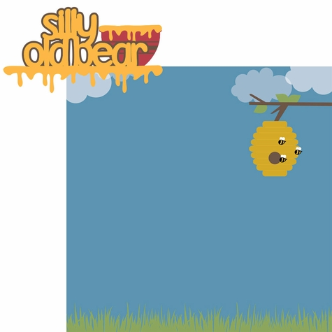 100 Acre: Silly Old Bear 2 Piece Laser Die Cut Kit