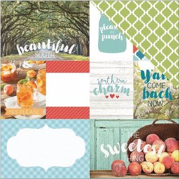 1SYT Discover USA: Southern Charm 12 x 12 Double Sided Cardstock