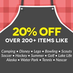 <b>20% off over 200+ items!</b>