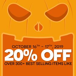 20% off over 300+ Best Selling items!