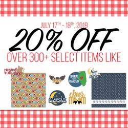 20% off over 300+ Select Items