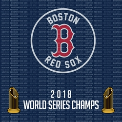 2018 Boston Red Sox Champs 12 x 12 Paper