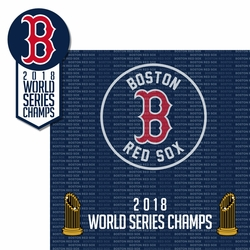 2018 Boston Red Sox Champs 2 Piece Laser Die Cut Kit