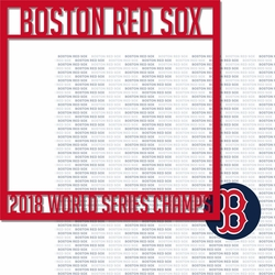 2SYT 2018 Boston Red Sox Champs Overlay Quick Page Laser Die Cut